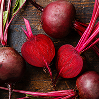 Fresh beetroot on wooden table