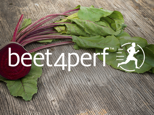 Beet4Perf brand on red beet picture