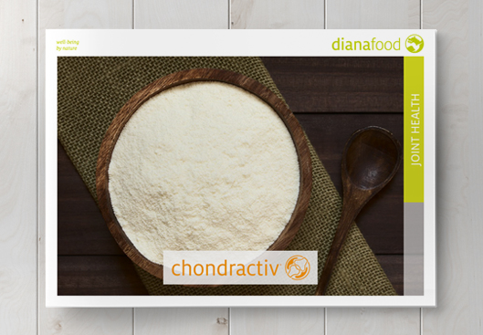 Top view of the Chondractiv brochure on wooden table